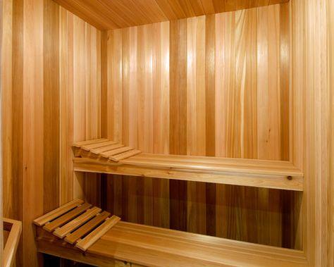Sauna Baleo - die finnische Sauna - in Fichtenholz mit Glasfront - schlichtes sauna design holz seeblick