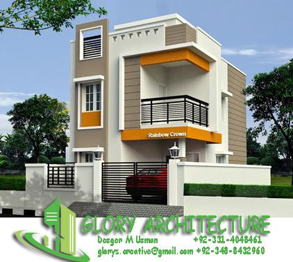 25x30 House Plan Elevation 3d View 3d Elevation House Elevation Small House Elevation Design House Outer Design Duplex House Design