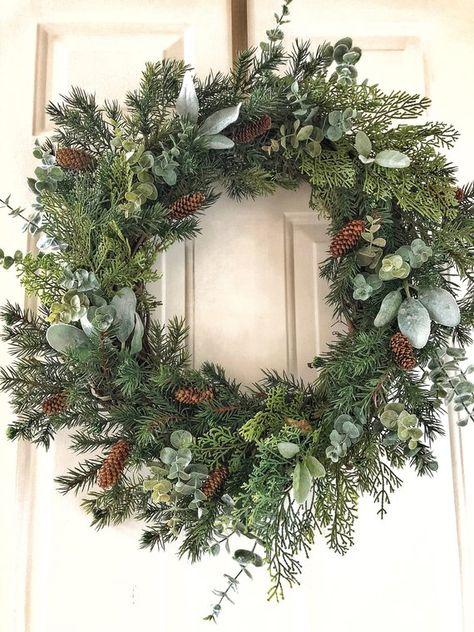 Christmas Wreath~Christmas Wreaths~Christmas Farmhouse Wreath~Christmas Winter Wreath~Christmas Wrea
