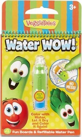 No Mess Painting For Kids This Exciting Paint With Water Coloring Book Includes 4 Reusable Pages And A Refillable Veggietales Painting For Kids Coloring Books