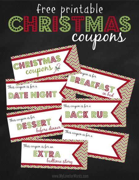 Free Printable Christmas Coupons Años nuevos, La la la y Navidad - christmas coupons template