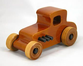 Wooden Toy Car Hot Rod Coupe | Spread Etsy's Products