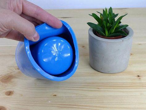 Silicone Mold For Concrete Planter Big Concrete Flower Pot Etsy Flower Pots Minimal Candles Concrete Planters