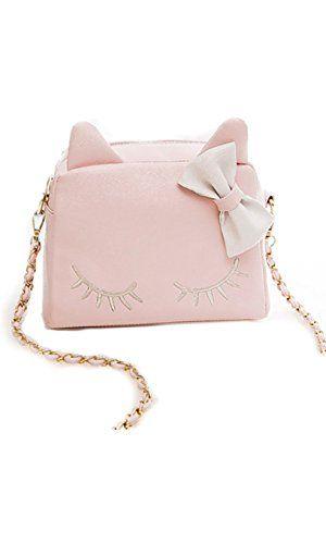 Kids Girls Cat Messenger Crossbody Shoulder Bag Handbag Tote Purse Wallet Gift