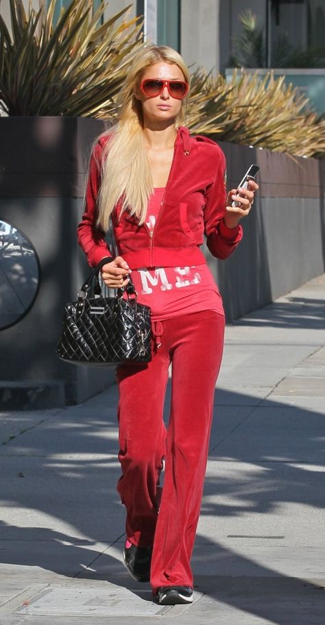 Look More Youthful with these Style Tips – Glam Radar red tracksuit paris hilton