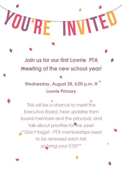 11 best pta images on pinterest pto membership fundraising pta meeting poster example from lowrie pta stopboris Images