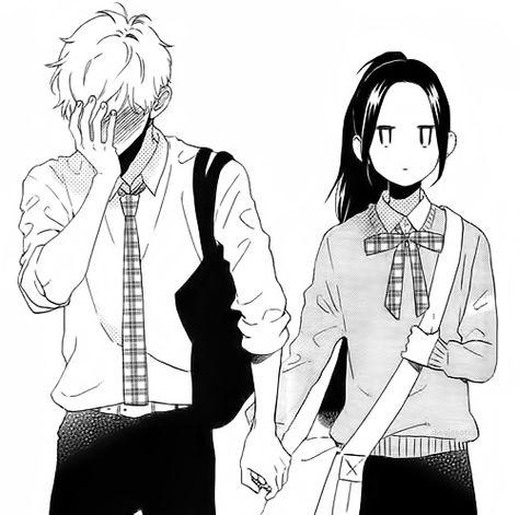 manga, anime, and hirunaka no ryuusei Manga Couple, Anime Love Couple, Cute Anime Couples, Anime Couples Hugging, Romantic Anime Couples, Daytime Shooting Star, Shooting Stars, Manga Love, Manga Girl