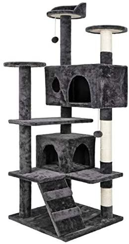 Nova Microdermabrasion 53 Inches Multi Level Cat Tree Stand House Furniture Kittens Activity Tower With Scratching Posts Kitty Pet Play House In 2021 Cat Bed Furniture Cat Tree House Cat Furniture