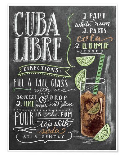 Rezept Poster Cuba Libre