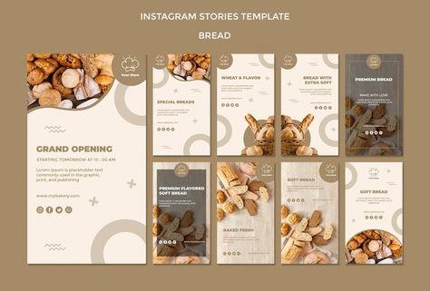 Скачивайте Торжественное открытие пекарня шаблон instagram историй бесплатно