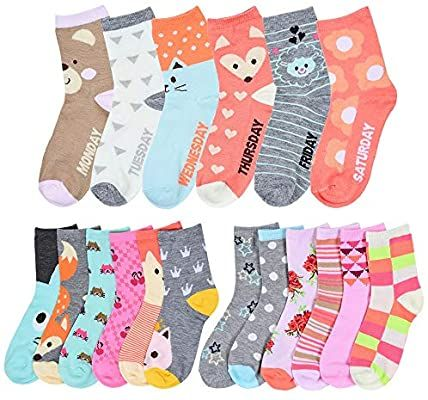 Baby Girls Novelty Cotton Rich Socks Ideal for Newborn to 24 Months 9 Pair Multipack