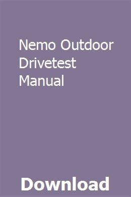 Nemo Outdoor Drivetest Manual With Images Owners Manuals