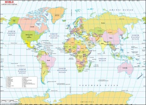 Maps of the World - Click on any Continent & Discover ...