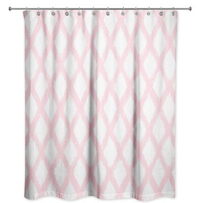 Bungalow Rose Mandar Abstract Single Shower Curtain Color Pink Purple Shower Curtain Pink Bathroom Decor Pink Shower Curtains