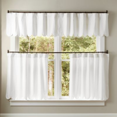 Looking For The Emma Scalloped Curtain Panel And Valance Shop Ballard Designs For Fun New Curtains And Drapery Items Ge Cafe Curtains Curtains Panel Curtains