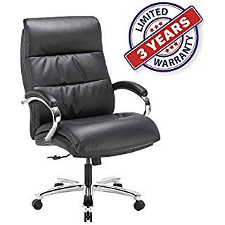 Ergonomic Big Tall Executive Office Chair With Bonded Leather 400lbs High Capa With Images Executive Office Chairs Office Chair Chair