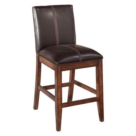 Awe Inspiring Larchmont Upholstered Barstool Dark Brown Signature Design Ncnpc Chair Design For Home Ncnpcorg