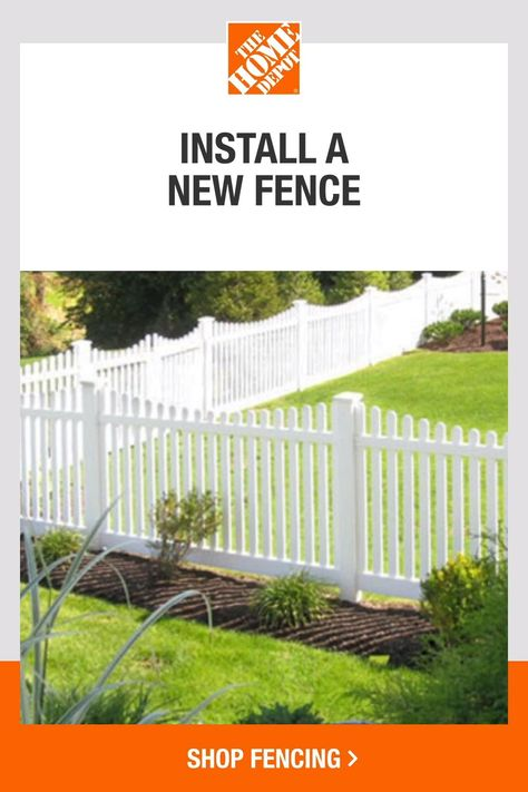 Bring on a new look for Spring at The Home Depot. Explore our wide selection of fencing options, ideas and how-to guides to get inspired for your favorite Spring projects. We've got you covered to create your ideal space. Tap to browse everything you need to start your Spring projects at The Home Depot.​