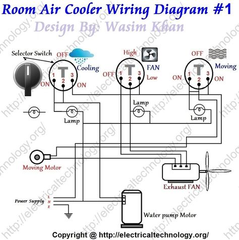 room air cooler wiring diagram 1 motores room air cooler rh pinterest com thermoelectric cooler wiring diagram cruzin cooler wiring diagram