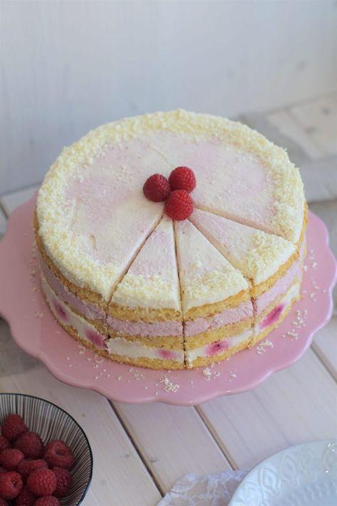 Himbeer Joghurt Torte Mit Weisser Schokolade Himbeer Joghurt Torte Joghurttorte Joghurt Kuchen