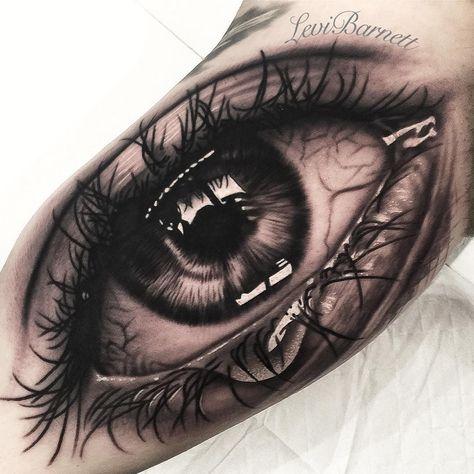 "2,205 lượt thích, 38 bình luận - Levi Barnett (@xlevibarnett_tattoox) trên Instagram: ""Different angle of this super fun #eye I did a couple weeks back 👁 @intenzetattooink…"""