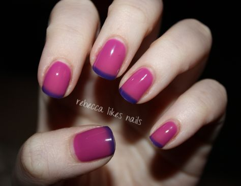 Gel II Reaction- Mood nail polish, I MUST get this! Same color as LeChat Twilight Skies