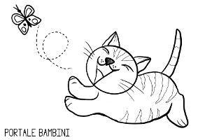 Disegni Di Gatti Da Colorare Portale Bambini Disegni Di Gatti Disegni Gatti