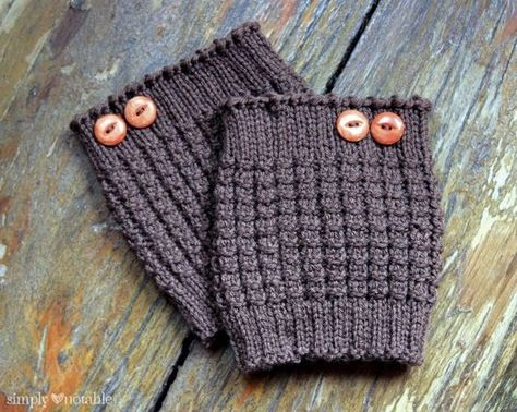 Here Are 10 Free Knit Boot Cuff Patterns For Women Including Cable