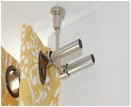 Ceiling Mount Rod Brackets Double Rod Curtains Curtain Rods