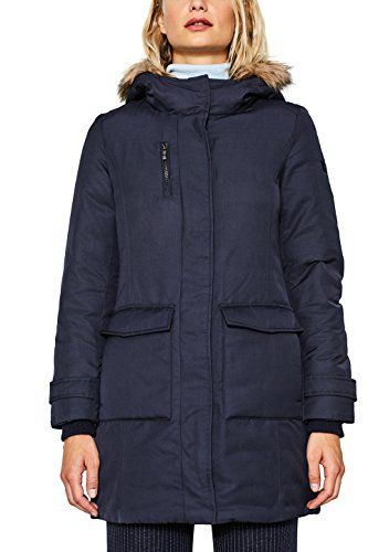 Esprit 097ee1g022 Abrigo Para Mujer Azul Navy 400 Large Mit Bildern Winterjacken Damen Modestil