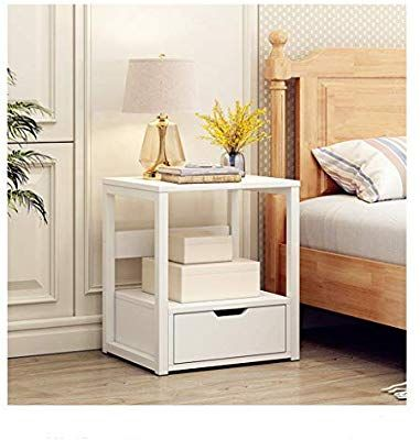Amazon Com C Easy 2 Tier Modern Nightstand With Drawer