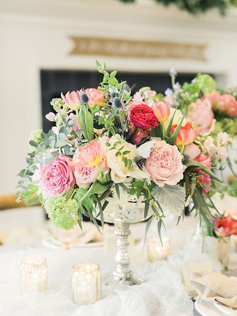 Gorgeous floral wedding inspiration | Photo by  Krista A Jones Photography  | Read more - http://www.100layercake.com/blog/wp-content/uploads/2015/02/Floral-Wedding-Inspiration