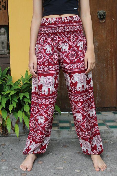 Bohemian Pants /Harem Pants /Music Festival Clothing /Hippie Pants /Yoga Pants /Meditation Pants Ele