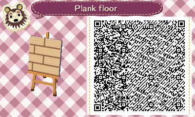 Qr Code For A Plank Floor Path In Animal Crossing Animal