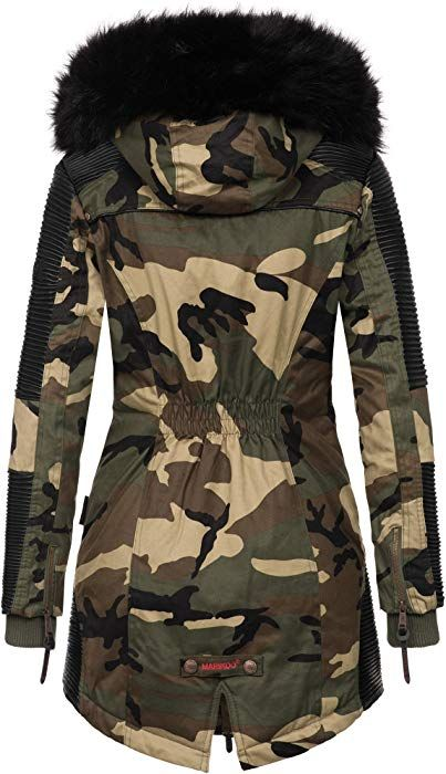 Marikoo Designer Damen Winter Parka Warme Winterjacke Mantel Jacke B372 Xs Camouflage Army Amazon De Bekleid Winterjacken Mantel Jacke Warme Winterjacke
