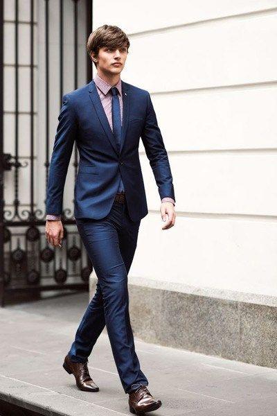 costume homme bleu marine en 2019