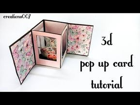 3d Pop Up Album How To Create Pop Up Page Tutorial Diy Scrapbook Page Youtube Fancy Fold Card Tutorials Pop Up Card Templates Diy Scrapbook