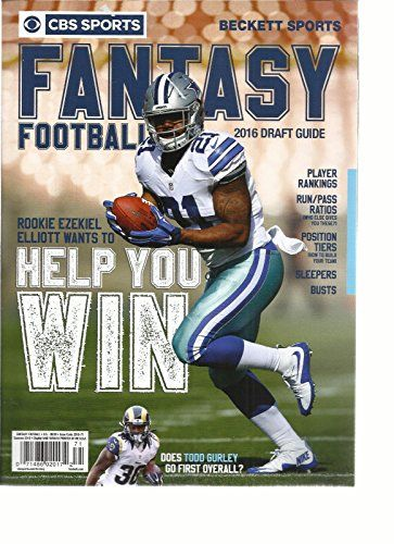 Cbs Sports Beckett Sports Fantasy Football 2016 Draft Guide Summer 2016 Cbs Sports Fantasy Football Football Draft