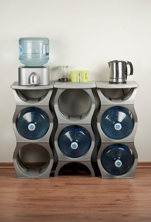 Bottle Racks To Show Water Bubbles Three Water Cooler Bottle Rack With Shelf Gallon Water Bottle 5 Gallon Water Bottle Bottle Rack