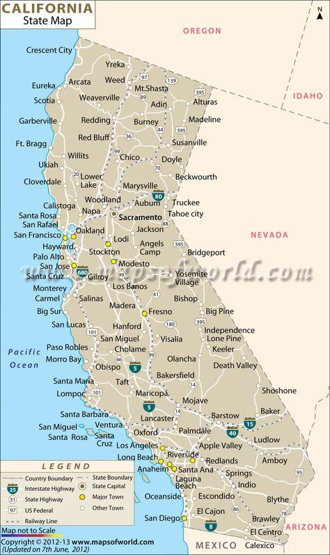 Buy Large Map of California