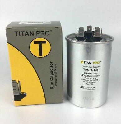 Packard Titan Pro Trcfd405 40 5 Mfd 440 370v Round Motor Run Capacitor Hvac Capacitors Packard Hvac