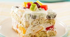 Frozen Fruitcake Salad | Del Monte Philippines http://www.delmonte.ph/kitchenomics/recipe/frozen-fruitcake-salad