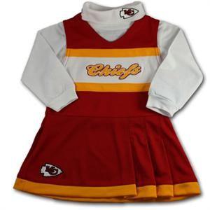 huge discount 22849 a9c9a Chiefs Infant Cheerleader Set | Kansas City Chiefs Baby ...