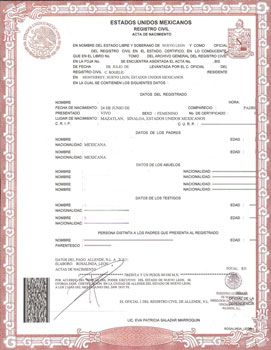 Mexican Birth Certificate Translation Template Birth Certificate Template Certificate Of Completion Template Certificate Template