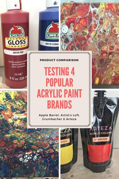 Product Comparison Testing Four Popular Acrylic Paint