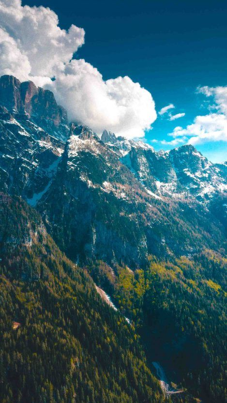 Daytime In Dolomites Mountains Iphone Wallpaper Scenery Wallpaper Nature Photography Nature Wallpaper