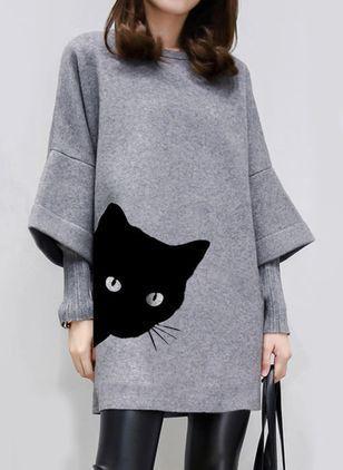 Cyber Monday Kleider Casual Geometrische Langarm Mi Lange En 2020 Vestidos De Mujer Ropa Vestidos Cortos Manga Larga