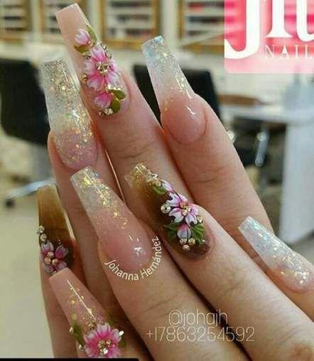 Nails Acrylic Ballerina Flower 55 Best Ideas