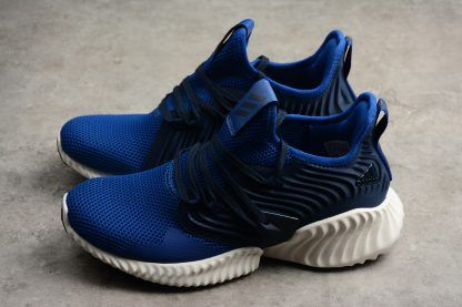 687b40f434567 Men's adidas Alphabounce Instinct CC M Blue/Navy-White Running Shoes ...