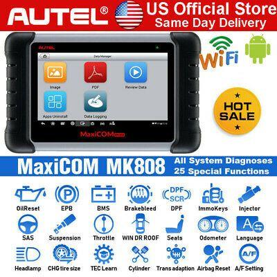 Autel Maxicom Mk808 Mx808 Obd2 Diagnostic Scanner Full System Immo Key Coding Obd2 System Coding